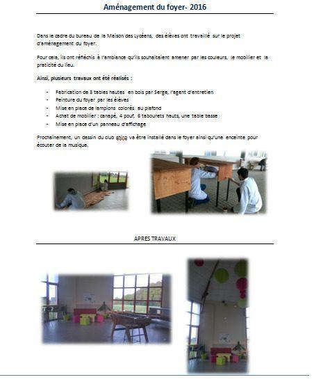 un foyer rénové par les élèves